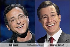 Bob Saget Totally Looks Like Stephen Colbert