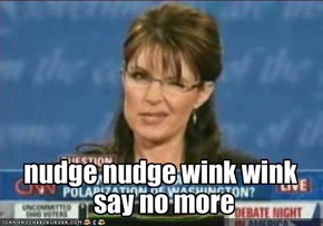 nudge nudge wink wink