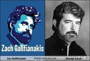 Zac Galifianakis TotallyLooksLike.com George Lucas