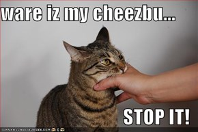ware iz my cheezbu...  STOP IT!