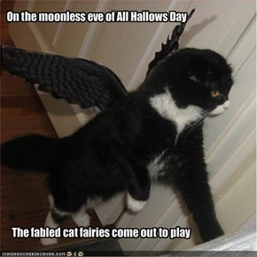 On the moonless eve of All Hallows Day