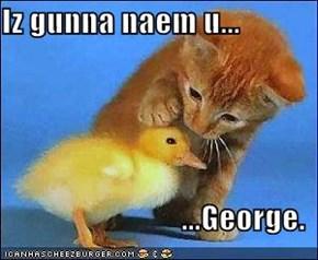 Iz gunna naem u...  ...George.