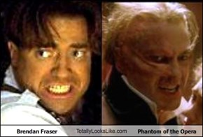 Brendan Fraser TotallyLooksLike.com  Phantom of the Opera