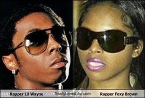 Rapper Lil Wayne TotallyLooksLike.com Rapper Foxy Brown