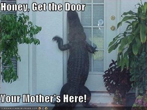 Honey, Get the Door  Your Mother's Here!