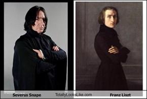 Severus Snape TotallyLooksLike.com Franz Liszt
