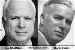 Sen. John McCain TotallyLooksLike.com Charlie Chaplin