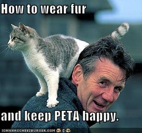 How to wear fur  and keep PETA happy.
