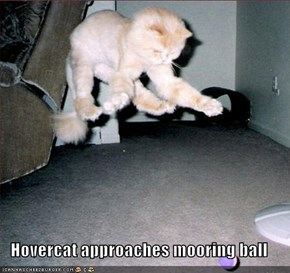 Hovercat approaches mooring ball
