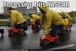 Recession hits NASCAR