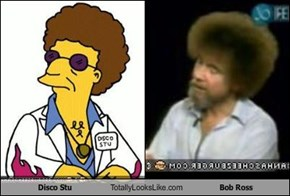 Disco Stu Totally Looks Like Bob Ross