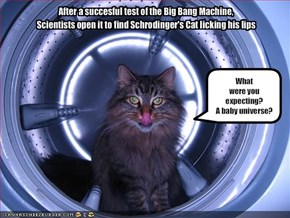 After a succesful test of the Big Bang Machine,