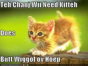 Teh Chanj Wii Need Kitteh Does Butt Wiggol ov Hoep