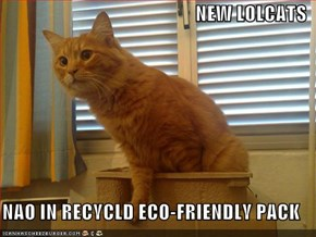 NEW LOLCATS  NAO IN RECYCLD ECO-FRIENDLY PACK