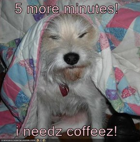 5 more minutes!  i needz coffeez!