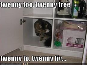 twenny too, twenny free  twenny fo, twenny fiv...