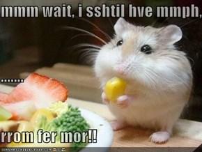 mmm wait, i sshtil hve mmph,  ....... rrom fer mor!!