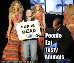 <--- PeopleEat     Tasty           Animals