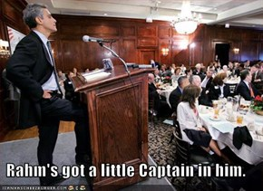 Rahm's got a little Captain in him.