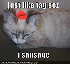 just like tag sez  i sausage