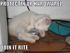 PROTECTIN UR HARDWAREZ  DOIN IT RITE
