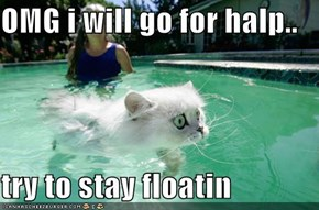 OMG i will go for halp..  try to stay floatin