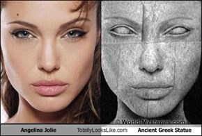 Angelina Jolie Totally Looks Like Ancient Greek Statue