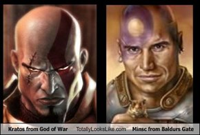 Kratos from God of War Totally Looks Like Minsc from Baldurs Gate