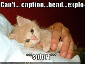 Can't... caption...head...explo-  ***splort***