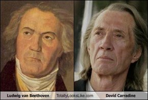 Ludwig van Beethoven Totally Looks Like David Carradine