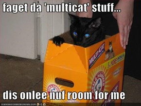 faget da 'multicat' stuff...   dis onlee nuf room for me