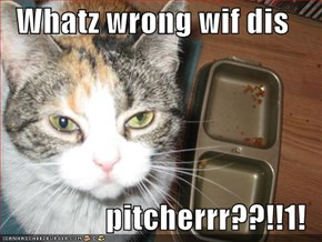 Whatz wrong wif dis  pitcherrr??!!1!