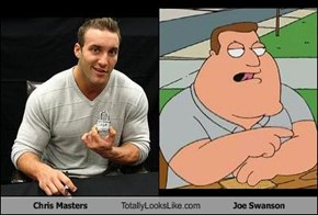 Chris Masters Totally Looks Like Joe Swanson