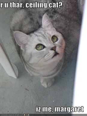 r u thar, ceiling cat?  iz me, margaret