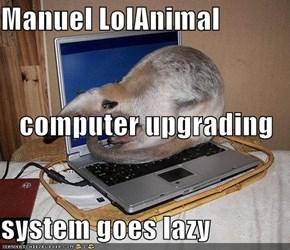 Manuel LolAnimal computer upgrading system goes lazy
