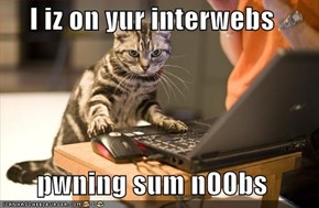 I iz on yur interwebs  pwning sum n00bs