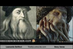 Leonardo DaVinci Totally Looks Like Davy Jones