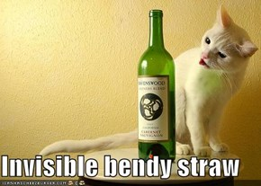 Invisible bendy straw
