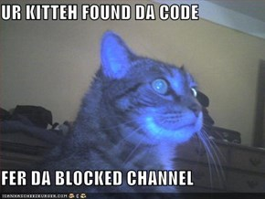 UR KITTEH FOUND DA CODE  FER DA BLOCKED CHANNEL
