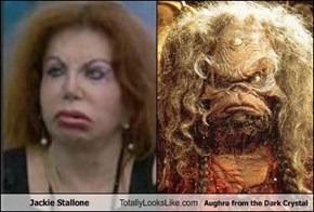 Jackie Stallone Totally Looks Like Aughra from the Dark Crystal