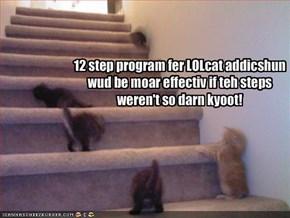 12 step program fer LOLcat addicshunwud be moar effectiv if teh steps weren't so darn kyoot!
