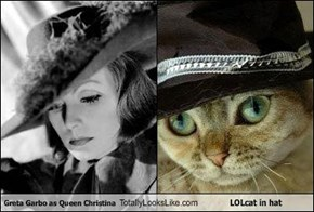 Greta Garbo as Queen Christina Totally Looks Like LOLcat in hat