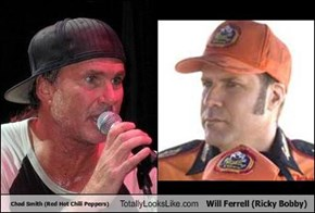 Chad Smith (Red Hot Chili Peppers) Totally Looks Like Will Ferrell (Ricky Bobby)