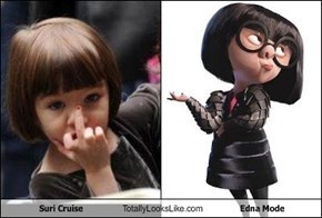 Suri Cruise Totally Looks Like Edna Mode