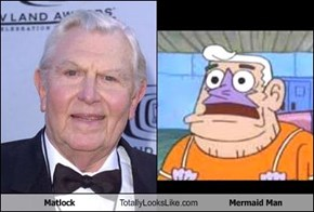 Matlock Totally Looks Like Mermaid Man