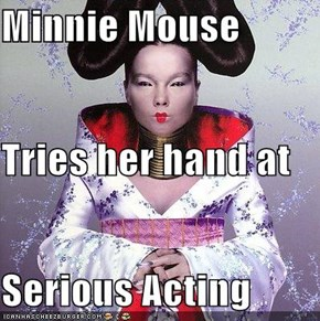 Minnie Mouse Tries her hand at Serious Acting