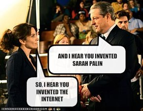 AND I HEAR YOU INVENTED SARAH PALIN