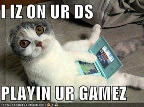I IZ ON UR DS   PLAYIN UR GAMEZ