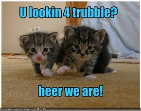 U lookin 4 trubble?