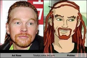 Axl Rose Totally Looks Like Pickles